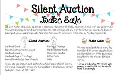 school auction template flyer - Google Search