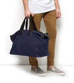 Navy Canvas Holdall Bag
