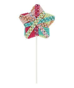 This Green Star Lollipop Hair Tie Holder Set is perfect! #zulilyfinds