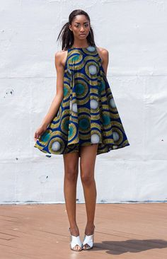 The Kia Dress by DemestiksNewYork ~African fashion, Ankara, kitenge, African women dresses, African prints, Braids, Nigerian wedding, Ghanaian fashion, African wedding ~DKK