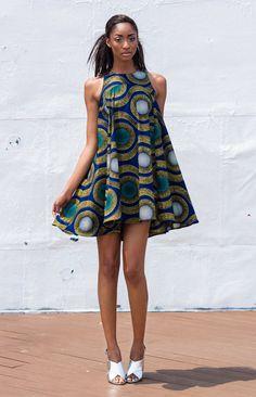The Kia Dress by DemestiksNewYork ~African fashion, Ankara, kitenge, African women dresses, African prints, Braids, Nigerian wedding, Ghanaian fashion, African wedding ~DKK