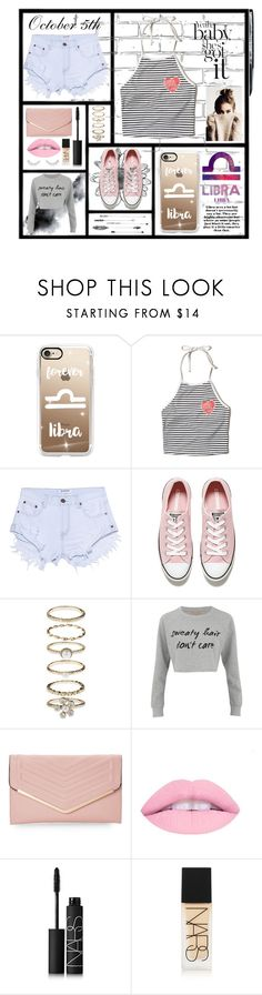 """""""*Libra*"""" by rhiannonpsayer ❤ liked on Polyvore featuring WALL, Casetify, Hollister Co., OneTeaspoon, Converse, Accessorize, MINKPINK, Sasha, NARS Cosmetics and Forever 21"""