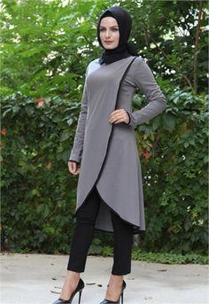Aysima Biyeli Tunik-Gri-5757