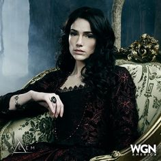 the character of Mary Sibley from the TV show, Salem, and Janet Montgomery, the actress who plays her. she is amazingly gorgeous and I love the outfits she wears on the show.