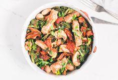 Healthy Pork recipe   Pork, kale & bean casserole