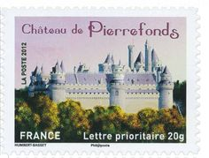 Sello: Castle of Pierrefonds (Francia) (Castles and stately homes of our regions (2)) Yt:FR A734,Mi:FR 5386