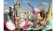 Frida Gustavsson & Lindsey Wixson by Tim Walker (Mulberry Spring-Summer 2012