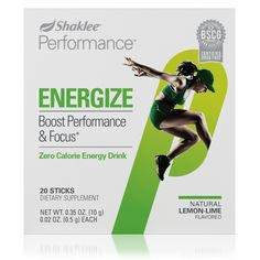 Performance™ Zero Calorie Energy Drink | Energize | Sports | Shaklee US site Drug Free, Product Label, Lemon Lime, Medical Conditions, Stay Fit, Superfood, Energy Drinks, Fitness Goals, Blessings