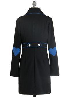 Love, Blue Love Coat - Wear your heart on your sleeve with this lovely, lightweight coat.