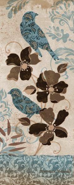 Blue Bird II Prints by Conrad Knutsen at AllPosters Vintage Birds, Vintage Tags, Vintage Diy, Vintage Paper, Vintage Postcards, Decoupage Printables, Bird Crafts, Paper Background, Vintage Pictures