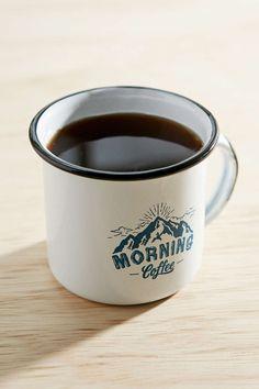 Morning Coffee Enamel Mug