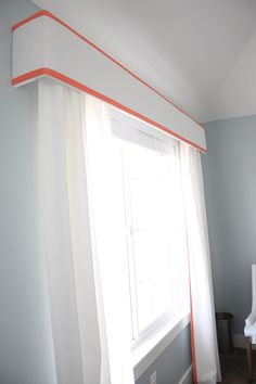 Paint white, and paint stripes in red color from kitchen to tie in nicely. :)
