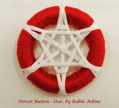 Dorset button, star pattern designed by Robin Atkins