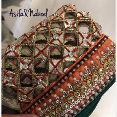 Asifa&Nabeel Hand Embroidery Patterns Free, Hand Work Embroidery, Indian Embroidery, Embroidery Fashion, Embroidery Dress, Beaded Embroidery, Embroidery Designs, Beautiful Pakistani Dresses, Pakistani Dress Design