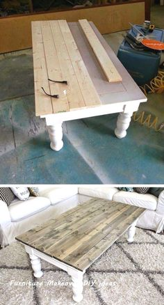 25 Most Creative DIY Furniture Refinements - Farmhouse Coffee Table Makeover # Furniture # ., 25 Most Creative DIY Furniture Refinements - Farmhouse Coffee Table Makeover # Furniture - Coffee Table Makeover, Diy Coffee Table, Kitchen Table Makeover, Painted Coffee Tables, Refurbished Coffee Tables, Side Table Makeover, Diy Table Top, How To Refinish Coffee Table, Pallette Coffee Table