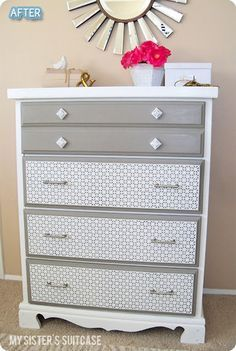 If I ever want new furniture, this is a great idea of how to re-invent without have to purchase new!