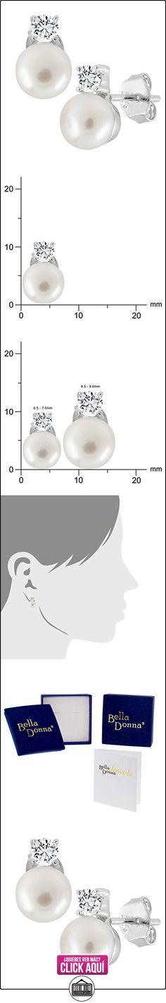 Bella Donna Ohrstecker 635470 - Pendientes de mujer de plata de ley con 2 circonitas (2 perlas)  ✿ Joyas para mujer - Las mejores ofertas ✿ ▬► Ver oferta: https://comprar.io/goto/B003HID6LW