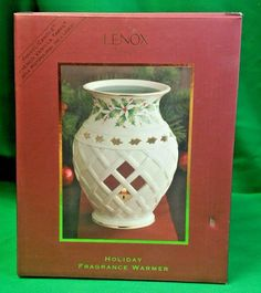 Lenox Holiday Fragrance Warmer Dimension Collection Yankee Candle Tart New Seal #Lenox