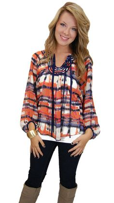 Piper Blouse, Orange