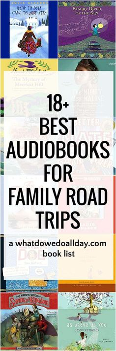 The best audiobooks for family road trips. Perfect for summer travel to keep kids entertained!