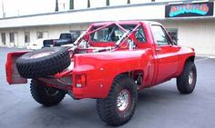 a square body ready for baja, that is a dream truck