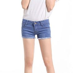 Fashionable Summer Tassel Hem Lace Pockets Slim Shorts For Women on buytrends.com