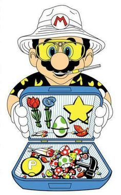 Tagged with gaming, mario; Fear and Loathing in Super Mario World Arte Dope, Dope Art, Fear And Loathing, Weed Art, Drawn Art, Psy Art, Super Mario World, Bd Comics, Gif Animé