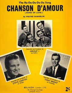 STEVE MARTIN - TONY BRENT - GROUP I - CHANSON D'AMOUR - 1958 - ORIG. MUSIKNOTE