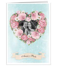 Kartka na ślub ze zdjęciem Młodej Pary