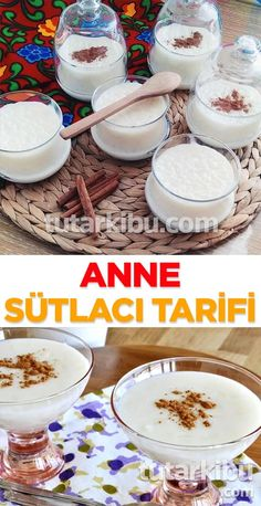 Sütlaç Tarifi – Vegan yemek tarifleri – The Most Practical and Easy Recipes Donut Recipes, Pudding Recipes, Rice Recipes, Drink Recipe Book, Food Vocabulary, Cookery Books, Food Categories, Turkish Recipes, Food Lists