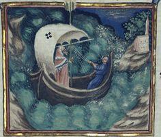 """La Div. Com. con un raffazzonamento delle note di Benvenuto Rambaldi. (Membran. È scritto """"... in t[er]ra Insule pr[ovin]cie Ystrie... per me petrum... """".) Date d'édition : 1301-1400 Type : manuscrit Langue : Italien"""