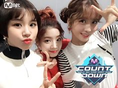 MnetMcountdown's Twitter Update with TWICE Chaeyoung Dahyun and Momo [170223] #TWICE #CHAEYOUNG #DAHYUN #MOMO