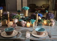 Flowers by Bornay - centro de mesa estilo barroco en tonos dorados.