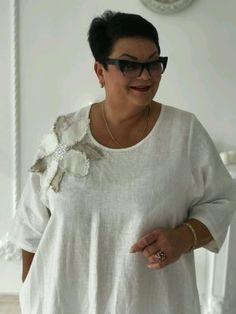 Купить Платье белое с цветами - платье, Платье нарядное, платье большого размера, платье льняное