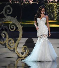 Miss Philippines Mary Jean Lastimosa participates in the evening gown competition during the 63rd Annual MISS UNIVERSE Pageant at Florida International University on January 25, 2015 in Miami, Florida. AFP PHOTO / TIMOTHY A. CLARYTIMOTHY A. CLARY/AFP/Getty Images
