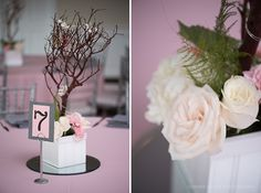 Royal Crest Room grey and pink wedding in Saint Cloud by Corner House Photography