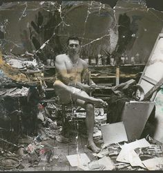George Dyer in Francis Bacon's studio, 7 Reece Mews, c. 1964, photographed by John Deakin                                                                                                                                                      Plus