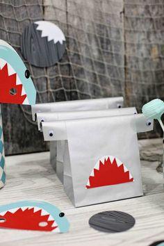 Shark themed birthday party via Kara's Party Ideas KarasPartyIdeas.com Printables, favors, recipes, supplies, and more! #sharkparty #karaspa...