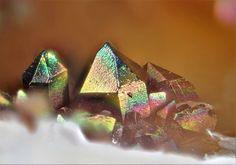 Iridescent Goethite coating Quartz - Clara Mine, Wolfach, Black Forest, Baden-Württemberg, Germany