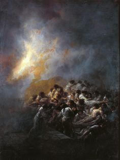 The Fire at Night Francisco Goya