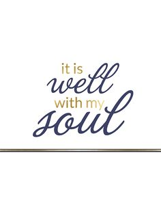 Now you can hang the famous hymn lyrics,It Is Well With My Soul, in your home. Such a great reminder in the midst of our turmoil that all is well.