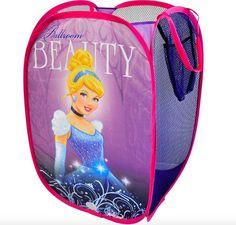 Kids Hamper Girls Laundry Storage Basket Clothes Toy Bathroom Disney Cinderella #Disney