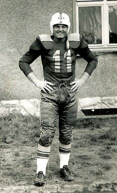 Vintage Football Player, Army, 1951