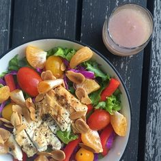 """Grilled Chicken Salad with Seasonal Fruit I """"What a great salad! This is a lovely and delicious entree salad."""""""