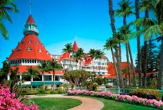 Stay at Hotel del Coronado.  When you arrive at the Hotel Del Coronado on Coronado Island in California, off the shores of San Diego, you have to stop for a bit to take its grandeur in before you go in.