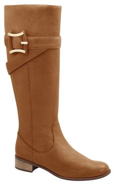 """Upper and inside leather boot , knee-height,inner side zip closure, stacked heel, buckle detail, the everyday boot, heel height 3/4"""" - brazilian shoes, fashion, designer, winter, fall, confortable"""