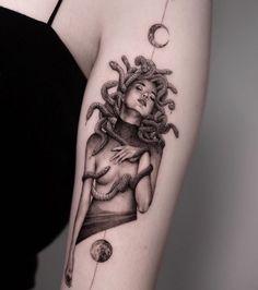 13 Tattoos, Body Art Tattoos, Hand Tattoos, Sleeve Tattoos, Pretty Tattoos, Cute Tattoos, Beautiful Tattoos, Medusa Tattoo Design, Tatoo Styles