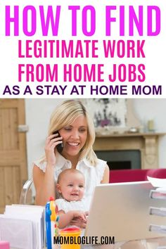 Are you a stay at home mom who wonders if there really are legitimate work from home jobs? In this post, I share how to find real work at home jobs so you can start working towards your work from home mom career. Home Based Work, Work From Home Tips, Stay At Home Mom, Make Money From Home, Make Money Online, How To Make Money, Work From Home Opportunities, Business Opportunities, Business Ideas