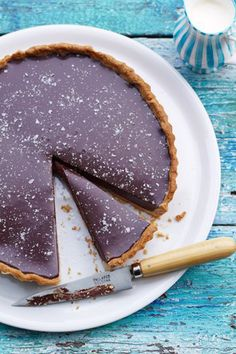 Rich Chocolate Tart With Salt Flakes | Jamie Oliver