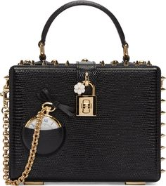 •Website: http://www.cuteandstylishbags.com/portfolio/dolce-gabbana-black-pocket-watch-box-bag/ •Bag: Dolce & Gabbana Black Pocket Watch Box Bag